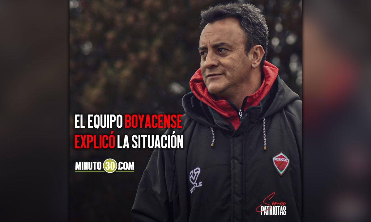 Patriotas tuvo que nombrar otro entrenador ante estado de salud de Jhon Mario Ramirez