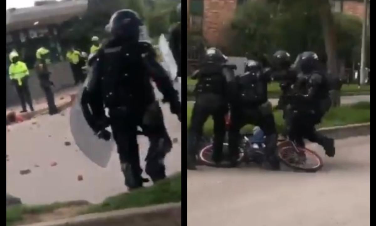 Claudia López dijo que retiraron de policías del Esmad que atacaron a periodistas en Bogotá