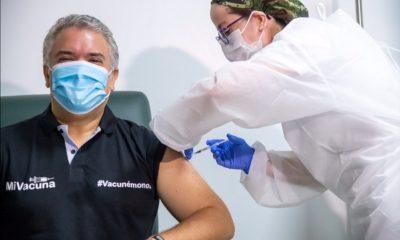 Presidente Duque recibió la vacuna contra el Covid