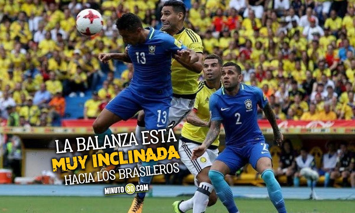 Previa en datos del partido entre Brasil y Colombia