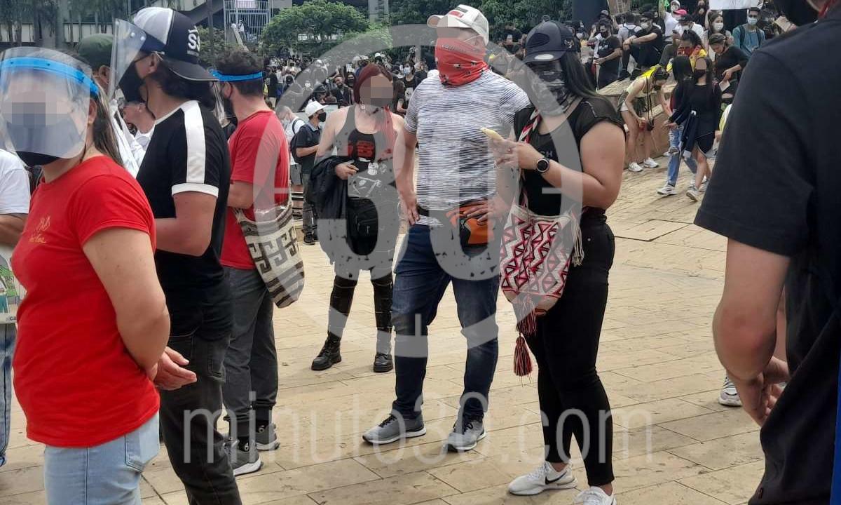 Cinco heridos en los disturbios, el balance de las manifestaciones en Medellín
