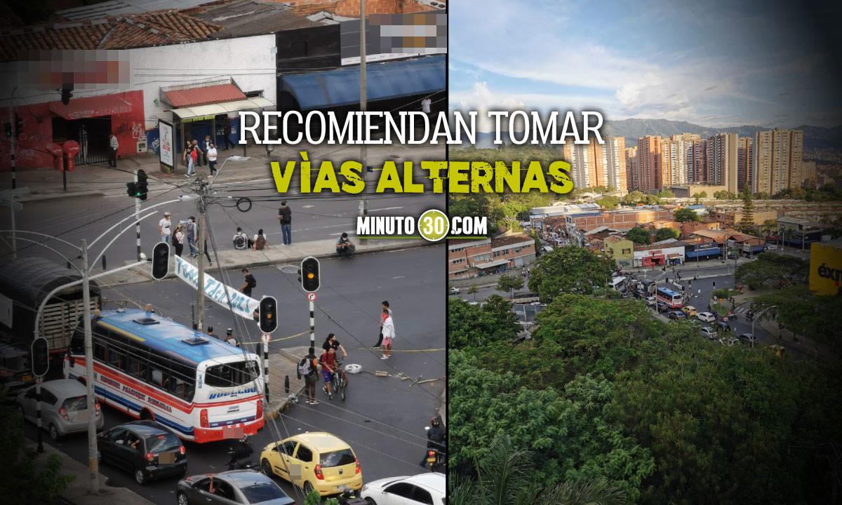 ¡Pilas! Hay 'taco' en la Avenida 80 de Medellín y en ambos sentidos