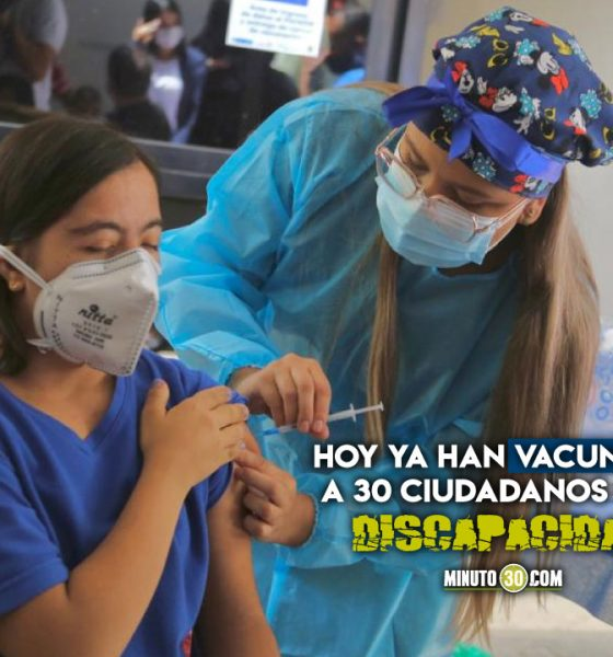 Sabaneta, primer municipio del país en iniciar la vacunación a personas con discapacidad