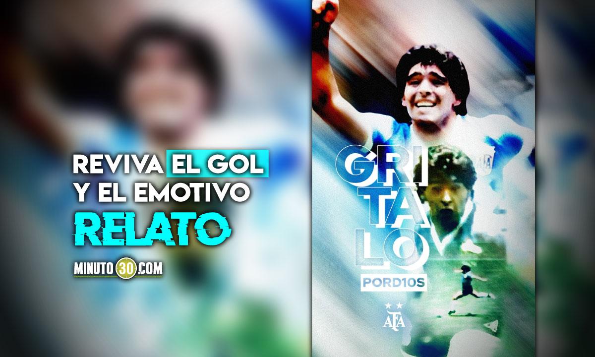 Se cumplen 35 anos del gol de Maradona a Inglaterra