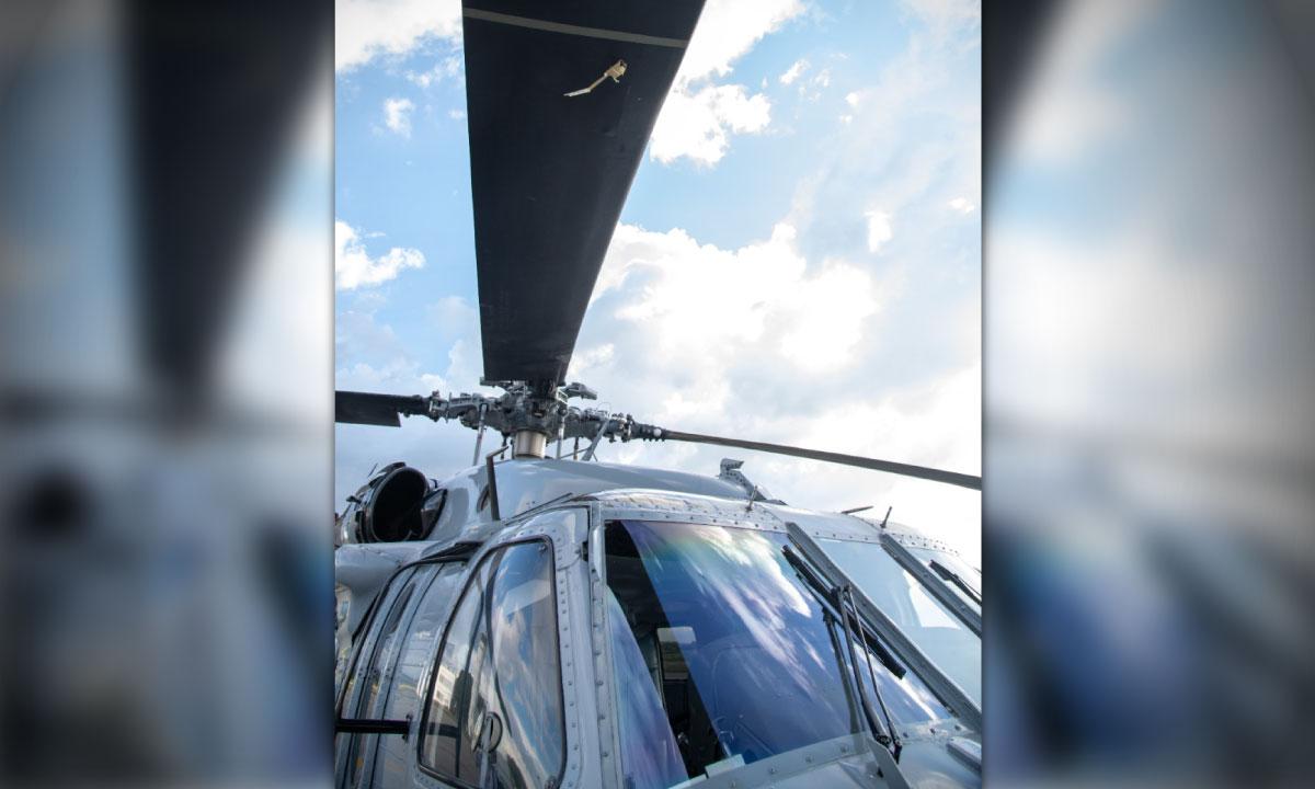 Se ven los disparos Asi quedo el helicoptero presidencial tras ataque a Duque 1