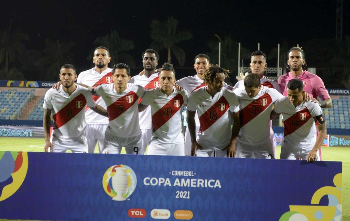 Seleccion Colombia vs Peru en la Copa America 2