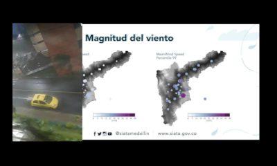 [Video] Reportan fuertes vientos sobre el Valle de Aburrá