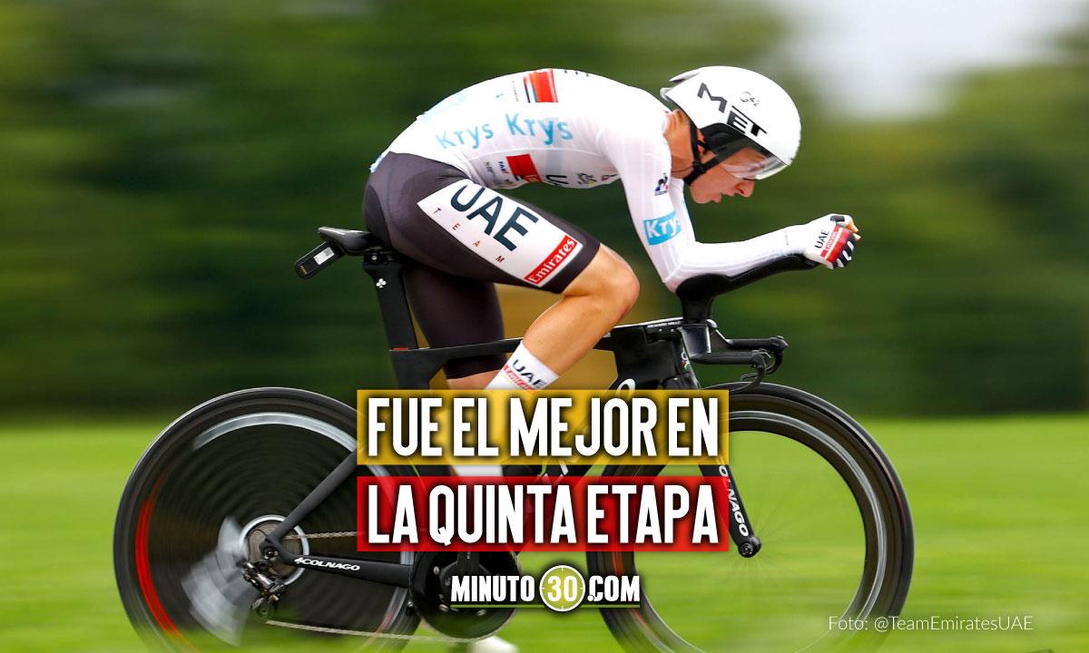 Tadej Pogacar gano la contrarreloj del Tour de Francia