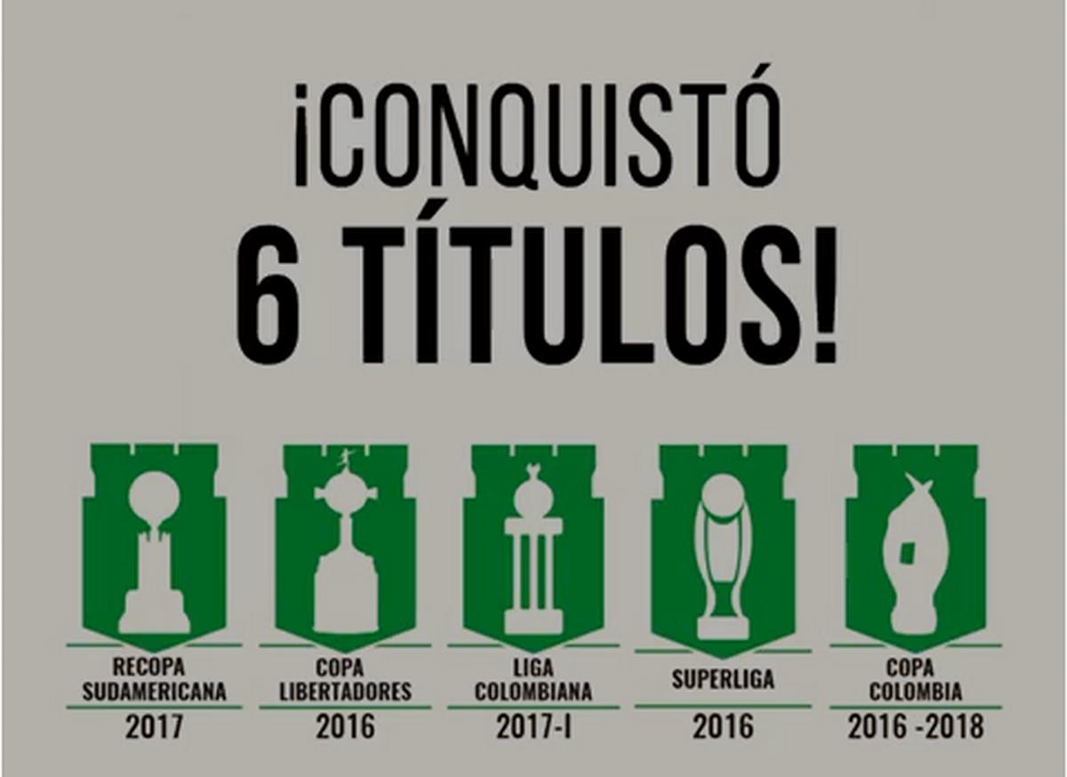 Titulos de Felipe Aguilar con Atletico Nacional