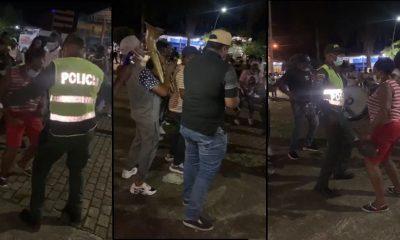 [Video] En Turbo se formó el 'rebulú', manifestantes y policías le ponen sabrosura a movilización al son de la Chirimía