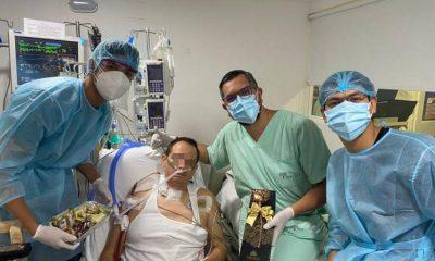 En una UCI en Santander les celebraron el día del padre a los pacientes Covid