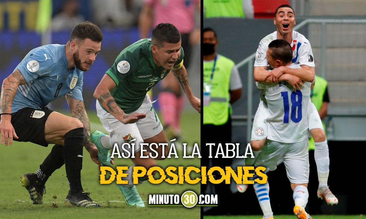 Uruguay y Paraguay clasificaron y todo quedo definido en el grupo A