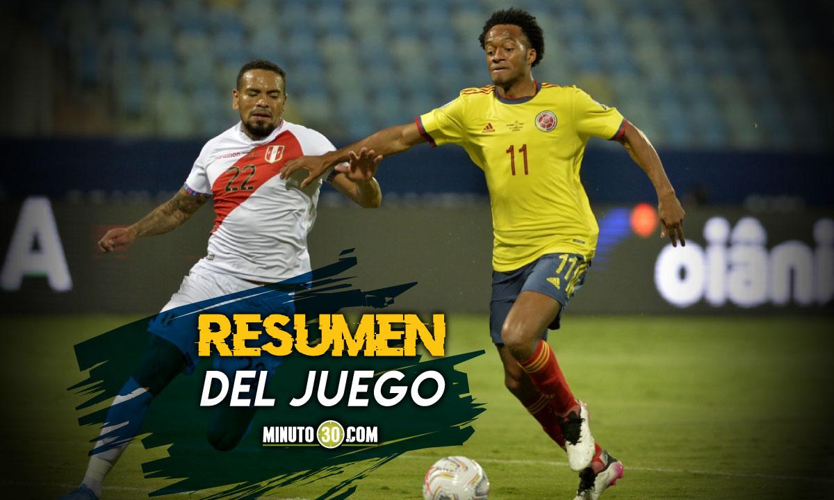 Video Goles y mejores momentos del partido Colombia Peru