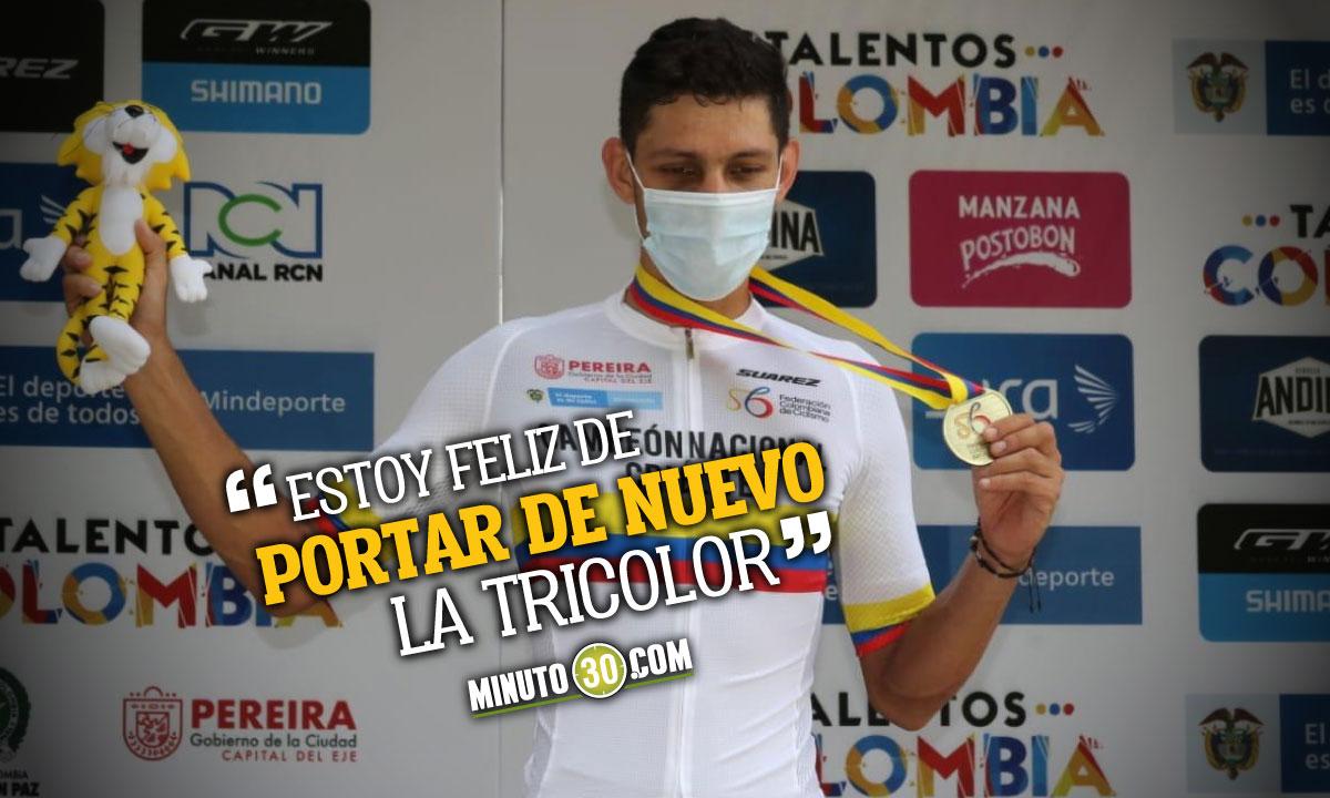 Walter Vargas campeon de la CRI en los Nacionales de ciclismo