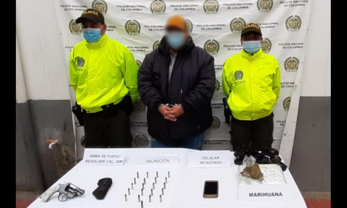 En Yarumal capturaron a 'El Gordo', armado y con marihuana