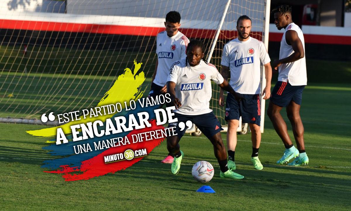 Yimmi Chara destaco la union de Colombia previo a partido con Brasil