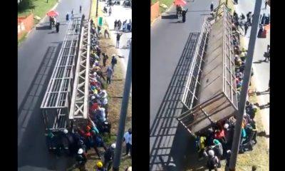 [Video] ¡Tremendo! Colapsada la Autopista Sur a altura de la estación Ayurá