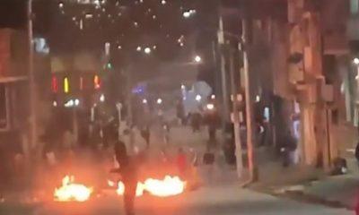 Cuatro lesionados y tres bloqueos viales en Bogotá