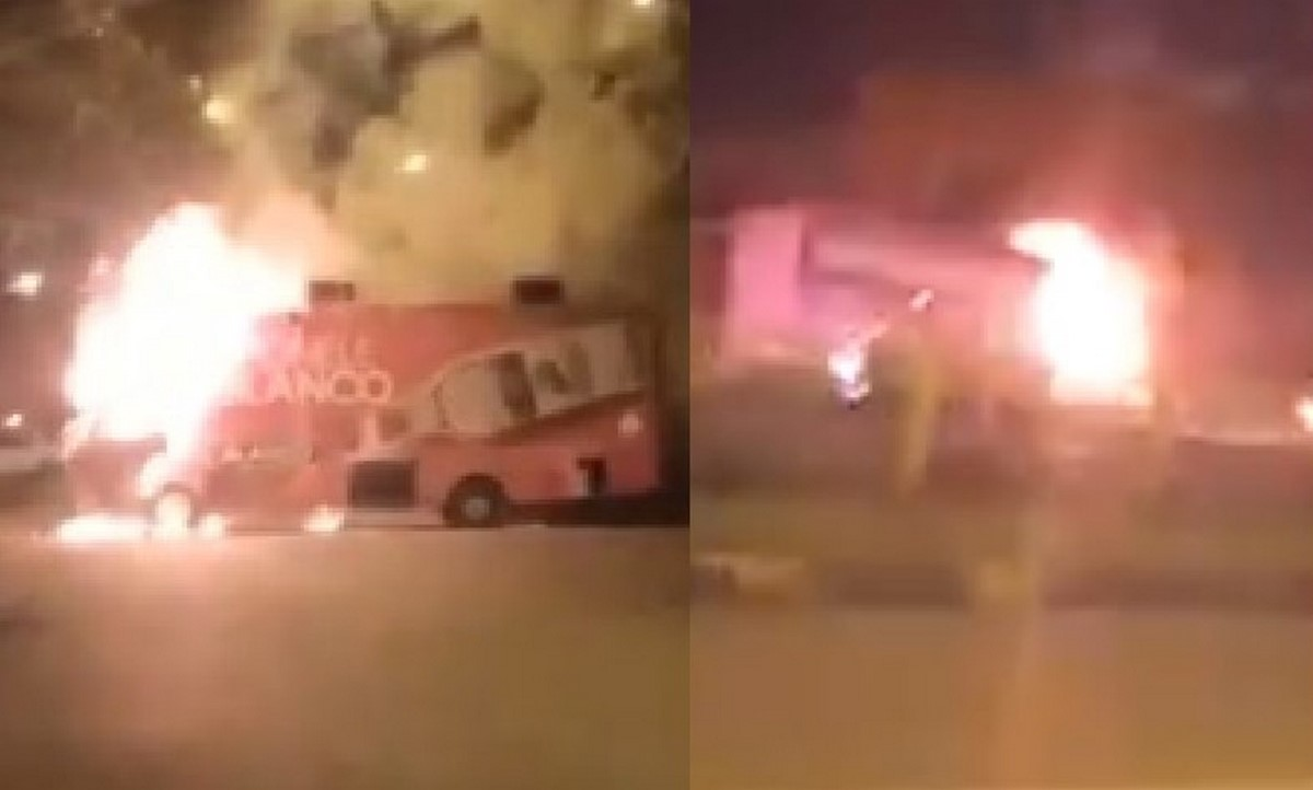 Anoche quemaron tres vehículos durante desmanes en Cali