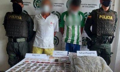 Los cogieron en zona rural de Andes con marihuana y bazuco