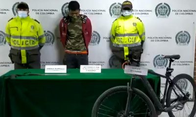 Capturado en Bogotá por hurtar una bicicleta