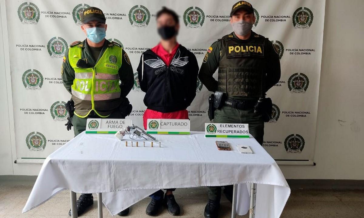 Capturaron a un presunto ladrón en Itaguí hasta con arma