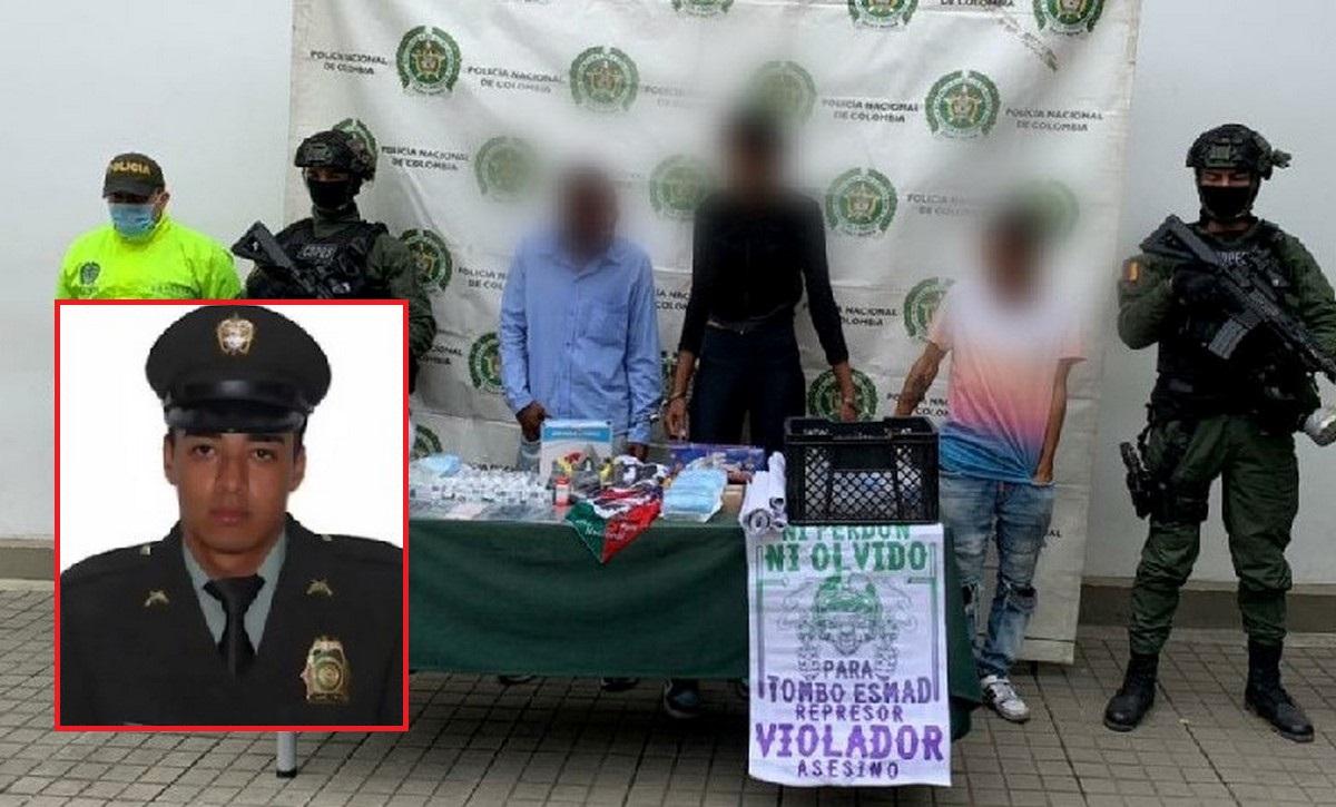Capturados por homicidio de patrullero Carlos Rincón en Cali