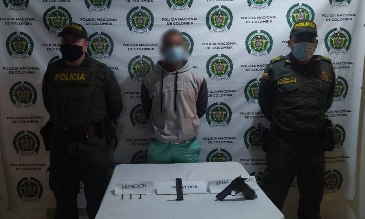 Capturado en Yolombó por portar una pistola sin permiso