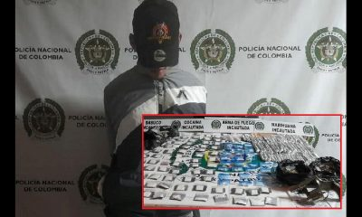 Capturado en La Avanzada con droga y un revólver