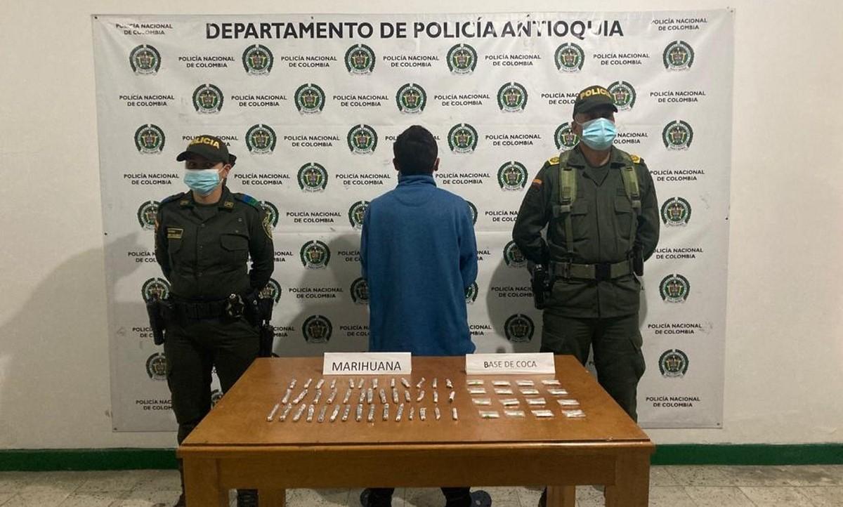 Capturado en Sonsón por llevar marihuana y base de coca