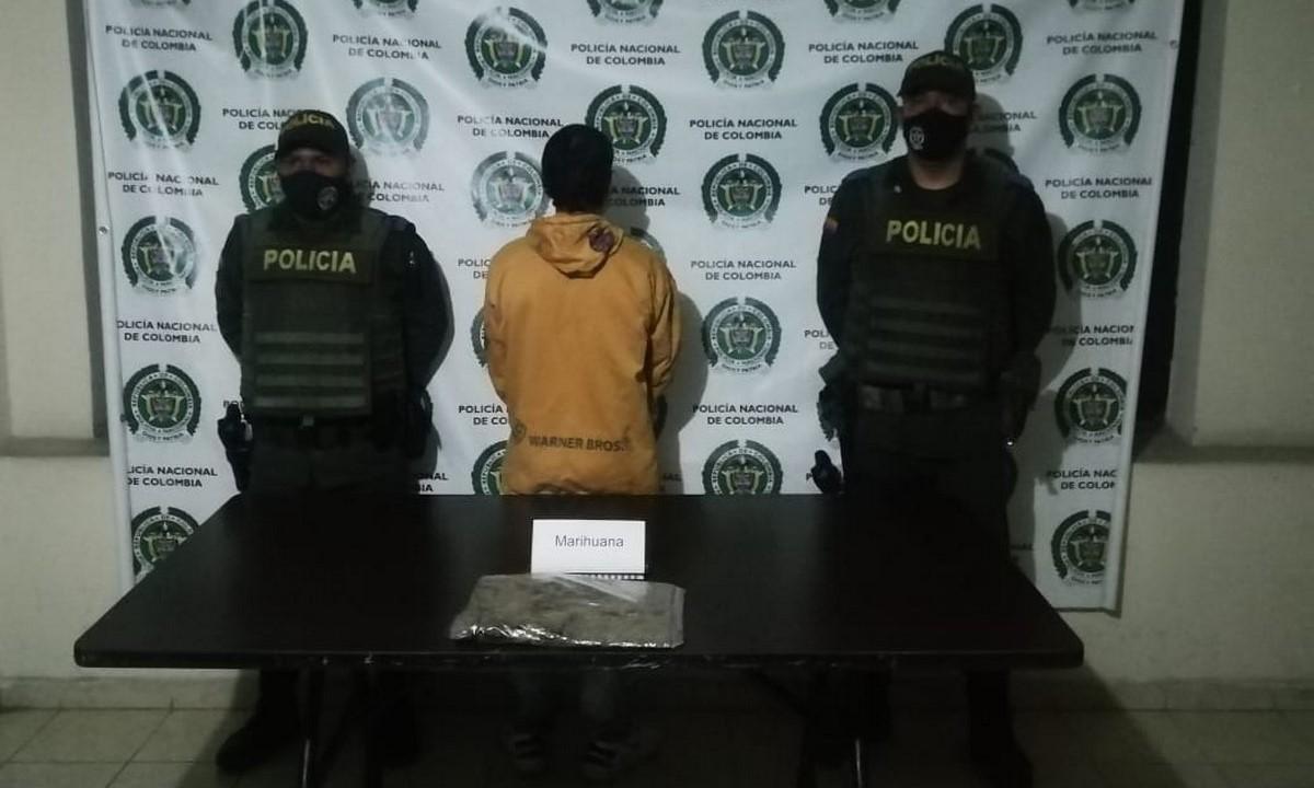 Capturado en Yalí por llevar una libra de marihuana