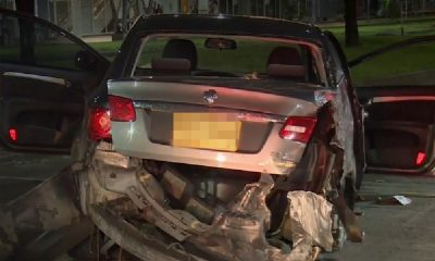 Carro se chocó en plena 'curva de la muerte' en Bogotá