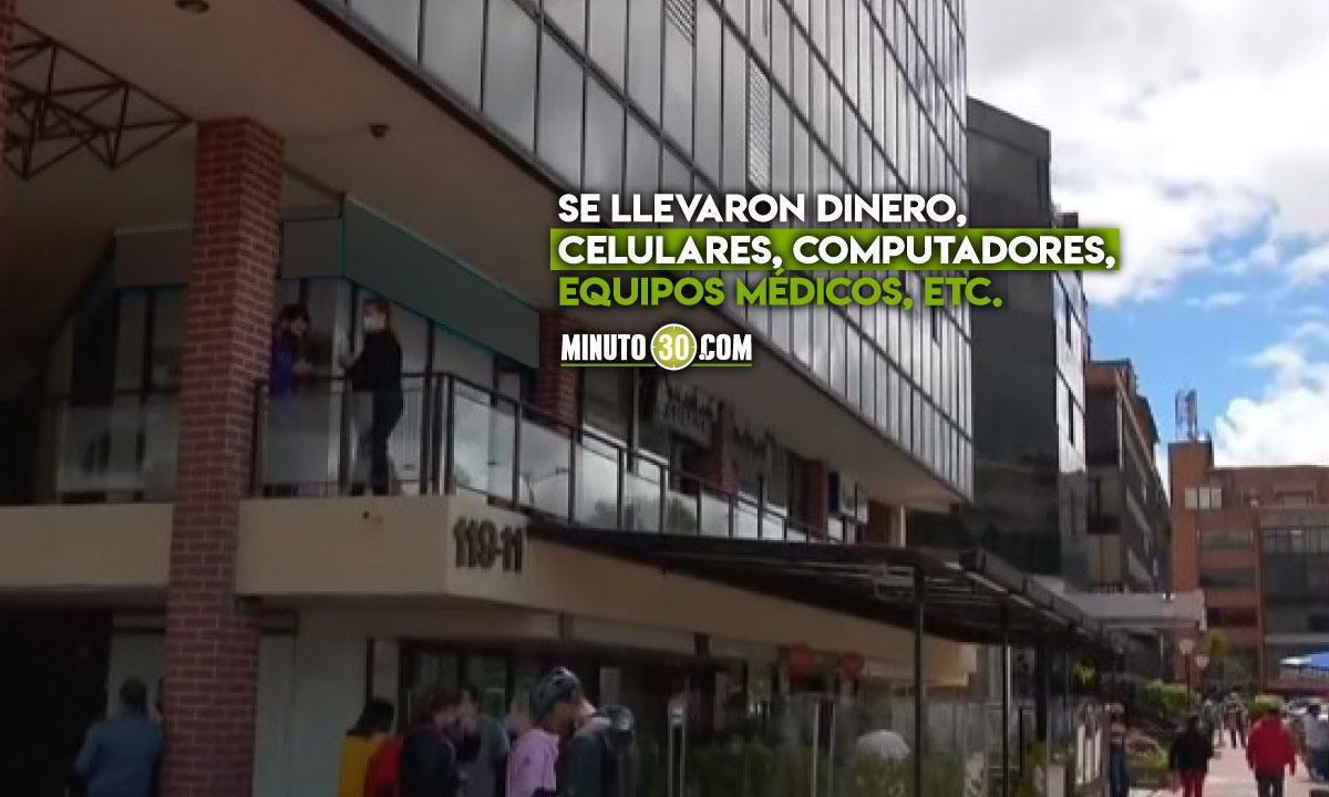 Asaltaron 46 oficinas en el norte de Bogotá