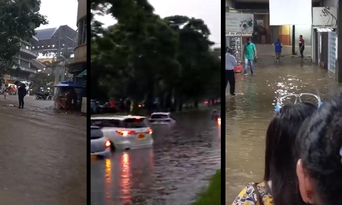 [Videos] Se inundó el centro de Medellín