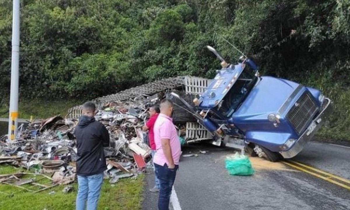 Cierre total en el sector Alto de Minas por accidente