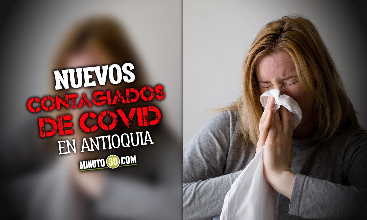 Antioquia confirmó hoy 3.703 nuevos contagiados de Covid
