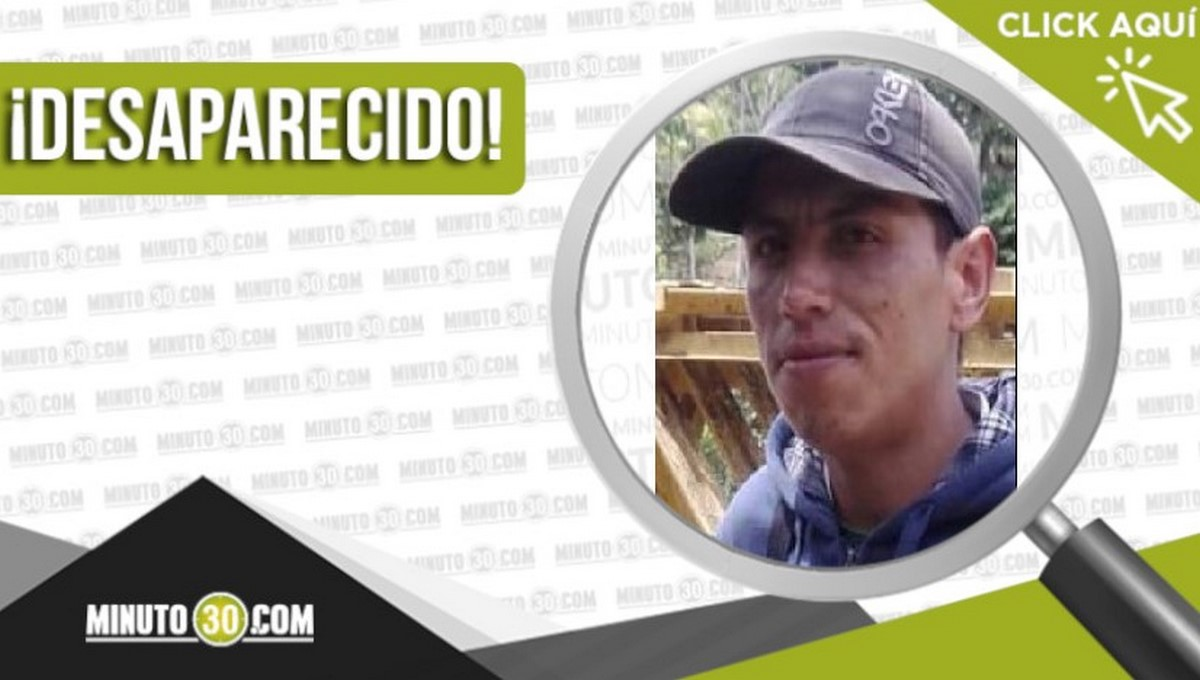 Jhon Fredy Ospina Ramírez desaparecido