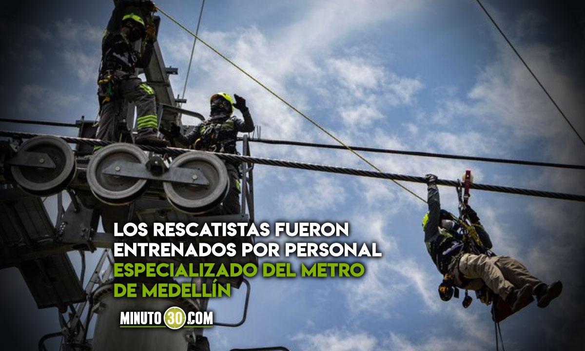 Metro de Medellín aportó al rescate de 17 personas en teleférico de República Dominicana