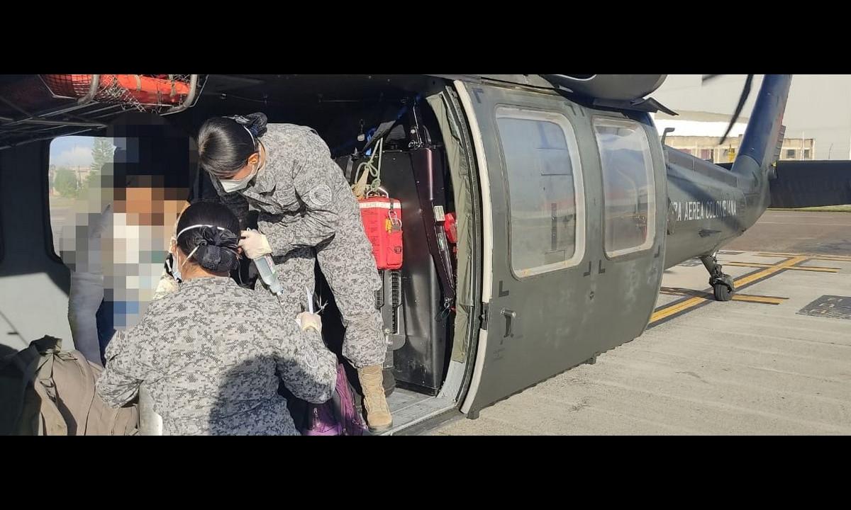 [Fotos] Fuerza Aérea le salvó la vida a un hombre en Segovia