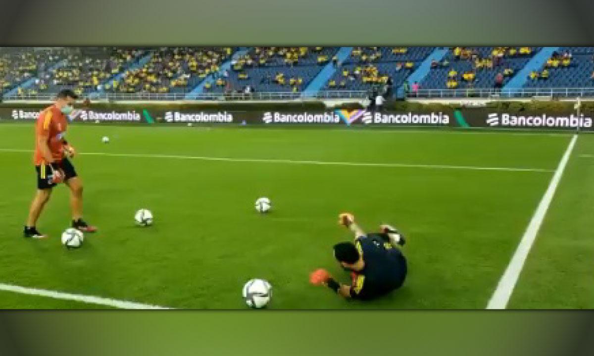 [Videos] Así fue el entrenamiento de Colombia momentos antes del partido