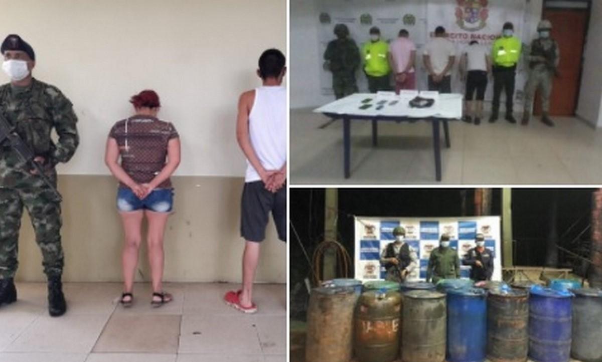 Capturaron a presuntos integrantes de grupos criminales