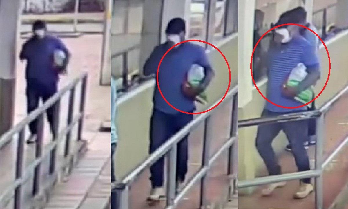 Video del hombre que habría ingresado el carrobomba