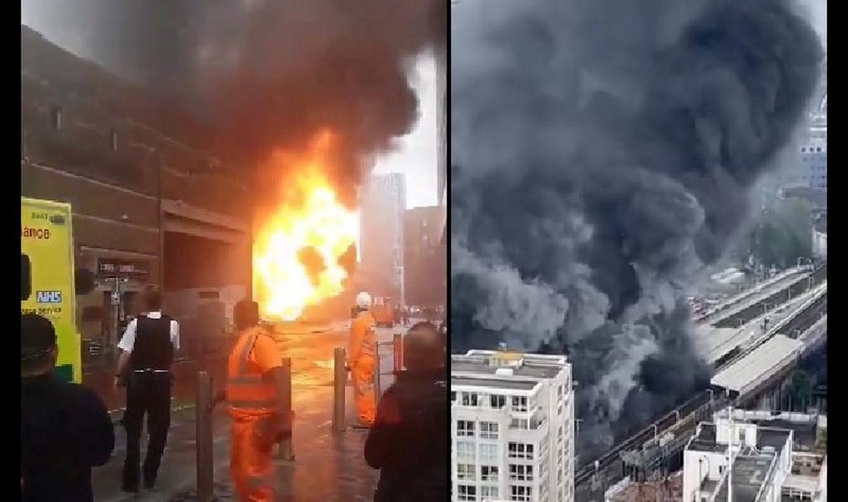 Incendio en una estación del Metro de Londres