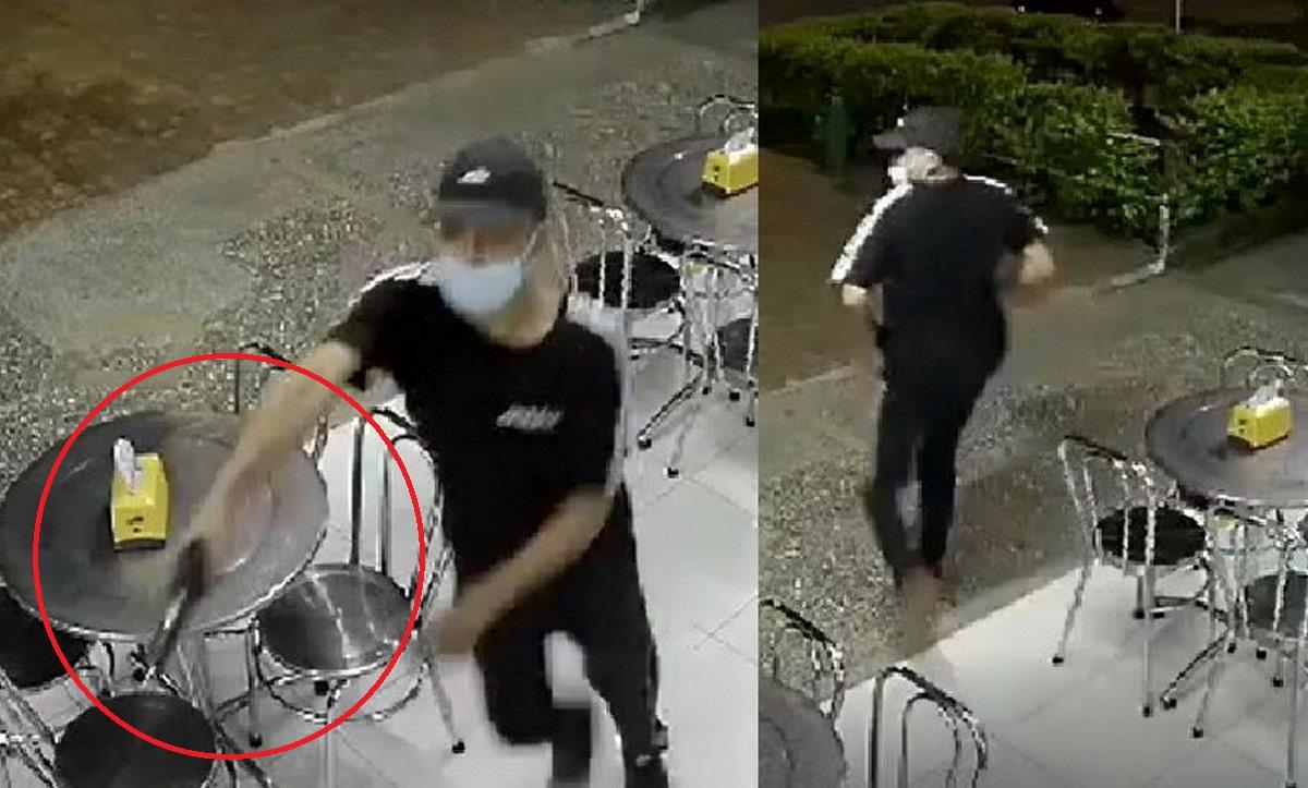 Hombre armado robó celulares en cafetería de la 80