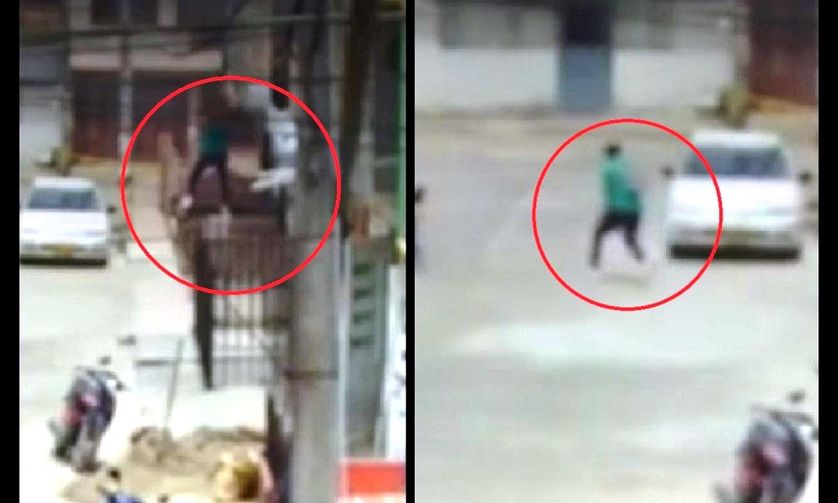 Presunto ladrón se tiró de un balcón usando sábanas