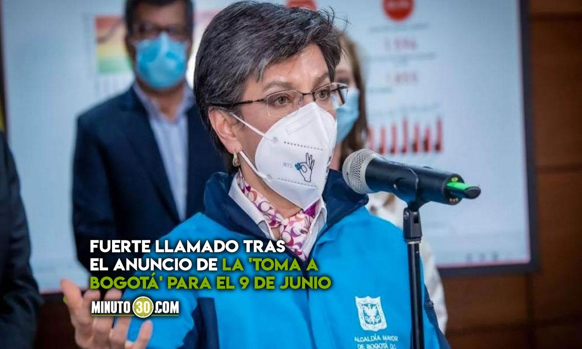 Llamado de Claudia López al Gobierno y al Comité del Paro