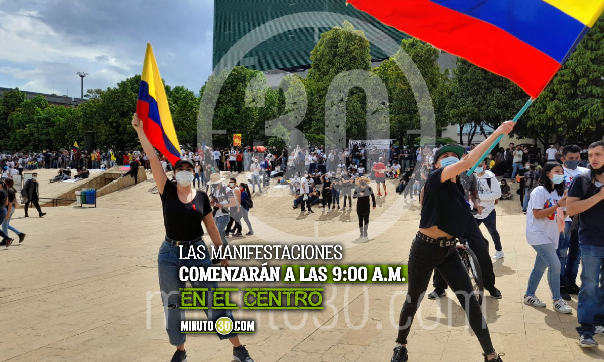 Conozca por dónde van a pasar las manifestaciones de hoy en Medellín