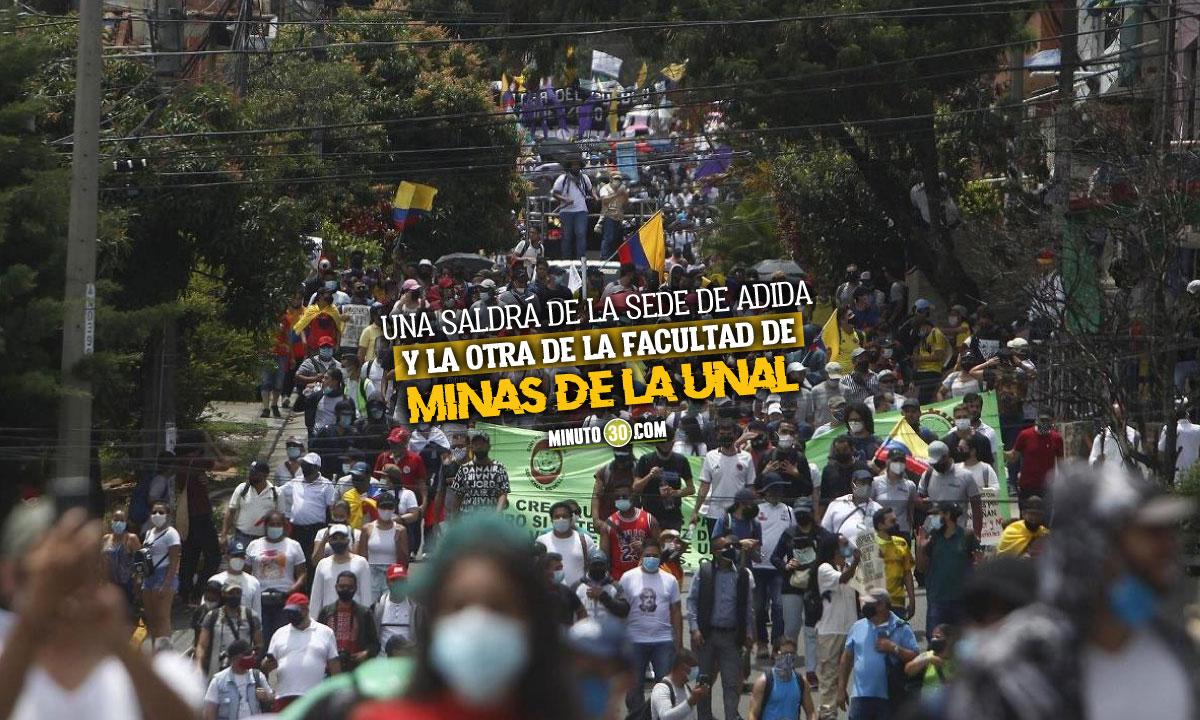 Rutas de las manifestaciones para este miércoles en Medellín