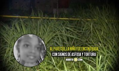 Encontraron muerta a niña que había desaparecido en Cali