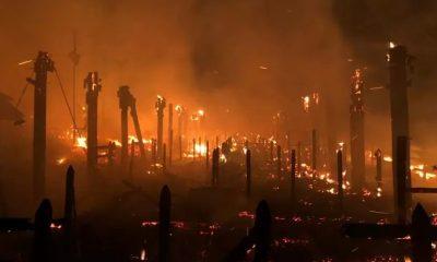 Un rayo provocó un incendio en Panaca